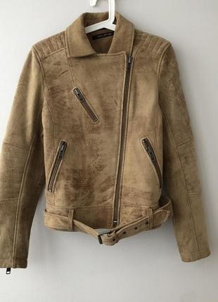 Куртка кожаная в байкерском мото стиле marc o'polo allsaints allsaints
