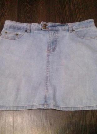 Etam джинсовая юбка