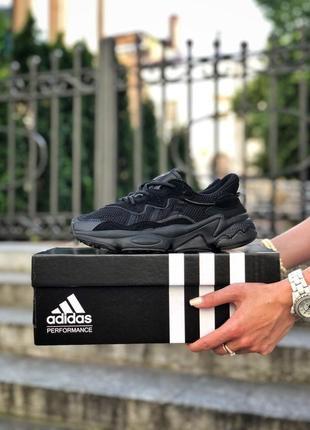 Женские кроссовки adidas ozweego адидас весна осень лето цвет чёрный