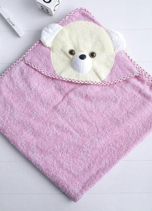 Детское красивое полотенце уголок с мишкой