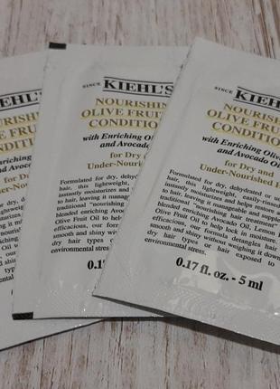Kiehl`s olive fruit oil питательный кондиционер для сухих волос с маслом оливы