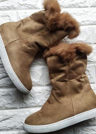 Стильні чобітки з хутром, 40 р sale! - 50%