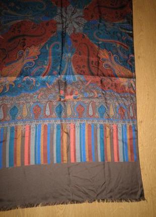 Классический шарф плотный саржевый шёлк pfau 160х50см италия