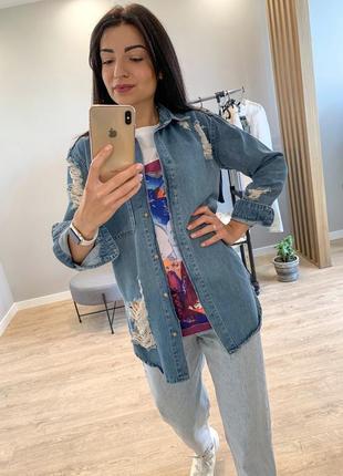 Джинсовая рубашка жикет, пиджак женская и денима