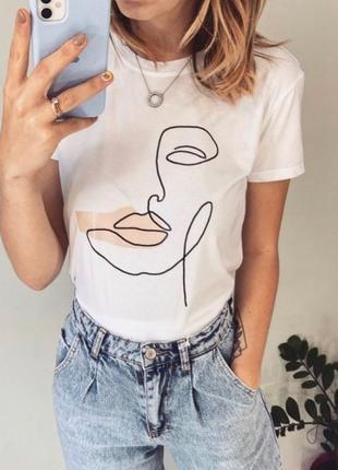 Футболка, женская футболка, футболка с принтом