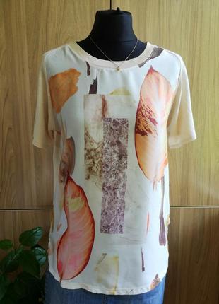 Блуза с льняной спинкой zara