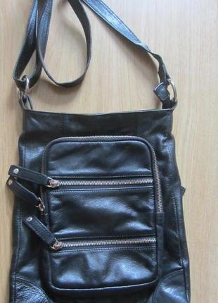 Мужская кожаная сумка - планшет zoul.