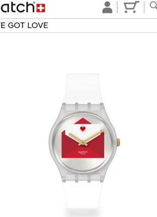 Часы годинник swatch valentines day