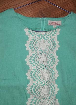 Льяное бирюзовое летнее платье 46, 48, 50, 52 р.