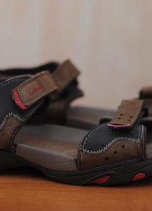 Коричневые сандалии, босоножки clarks, 39 размер. оригинал