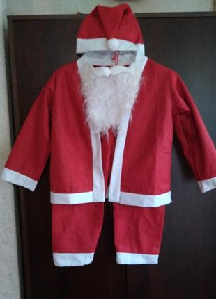 Карнавальный костюм санты 4-6 лет