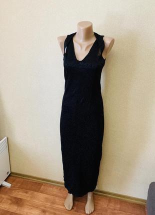 Платье в пол чёрное