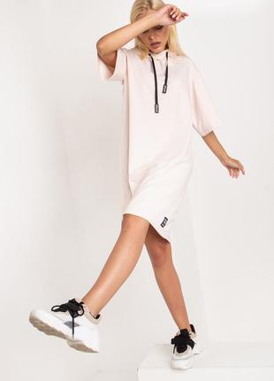 Комфортное трикотажное платье, размеры xxs-m