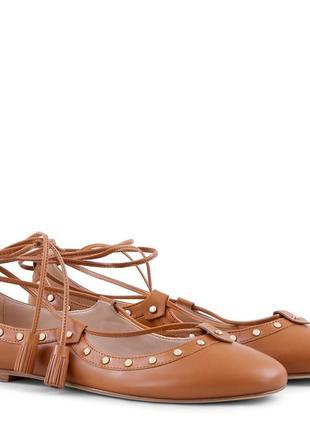Кожаные балетки tod's