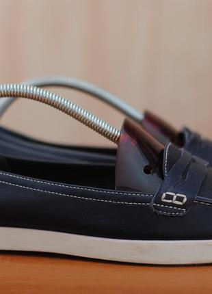 Синие кожаные балетки, туфли, мокасины, топсайдеры boden, 40 размер. оригинал