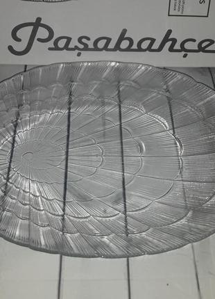 Блюдо овальное стеклянное,тарелка