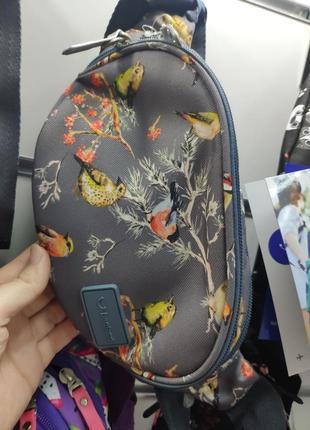 Фирменная сумка на пояс банка bagland с птичками