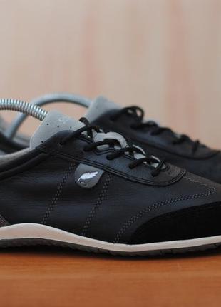 Черные кожаные кроссовки, кеды geox respira, 40 размер. оригинал