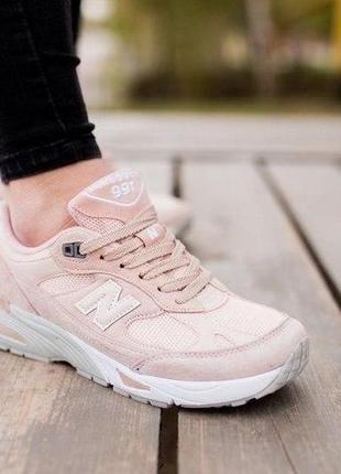 New balance 991 ✰ женские замшевые кроссовки ✰ персикового цвета 😻