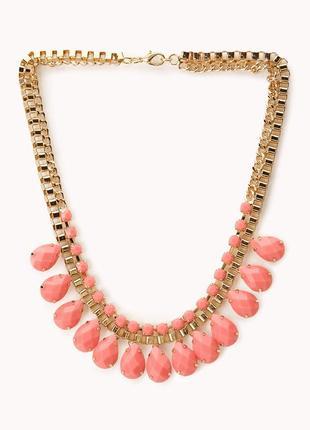 Новое ожерелье колье украшение на шею золотого цвета с цепочками forever 21