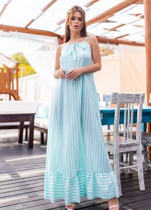 Очаровательный лёгкий нежный воздушный сарафан платье макси в актуальный принт оверсайз