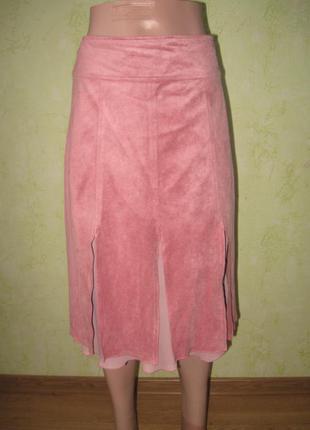 Оригинальная юбка под замш