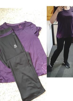 Легкий спортивный костюм/комплект брюки и футболка, crivit, p. 40-42