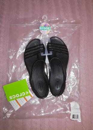 Crocs isabella sandal black relaxed, р.5 р.35/35,5/36 (22,5см)