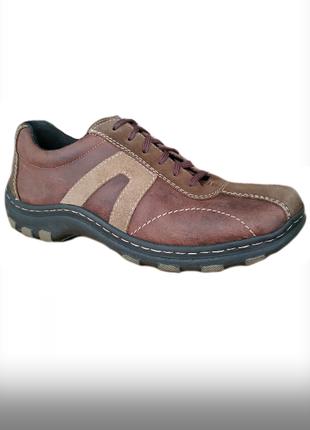Кожа туфли мокасины rieker германия eur 42 стелька 27 см