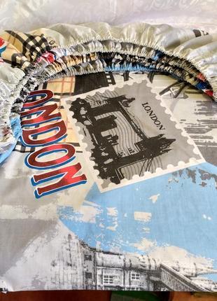 Простыни на резинке из плотной бязи - london, все размеры, быстрая отправка