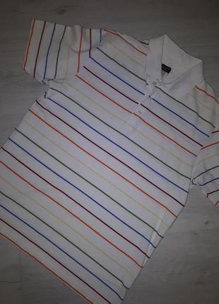 Футболка  тениска  цветная полоска