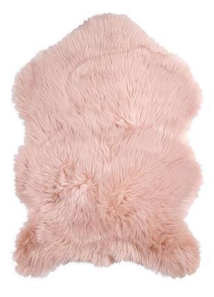 Коврик овчина розовая