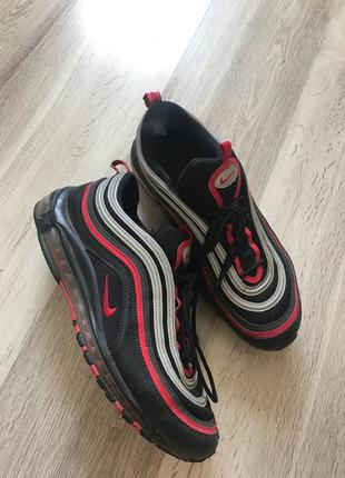 Nike air max 97 black red silver