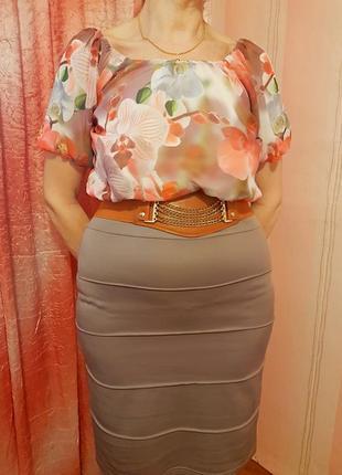 Платье женское летнее с орхидеями