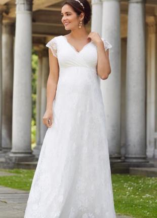 Платье в пол свадебное нарядное tiffany rose для беременных