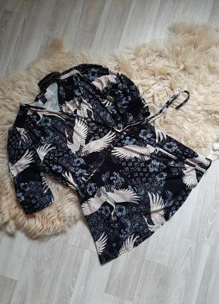 Удлинёная новая  блузка на запах от new look