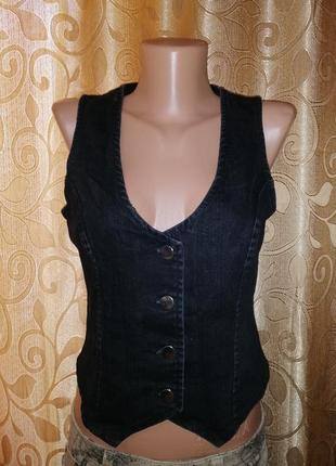 🌺🎀🌺стильная черная женская джинсовая жилетка wallis🔥🔥🔥