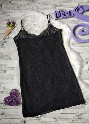 Ночная рубашка пеньюар marks & spencer женский черный сетка