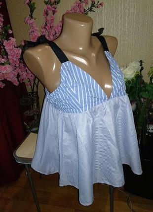 Блуза на завязках, размер м/л