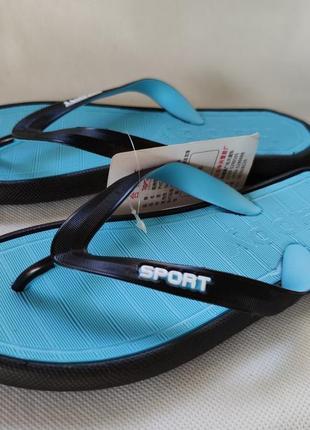Женские сланцы шлепки вьетнамки шлепанцы пляжные голубые 37,39 р. 033-4