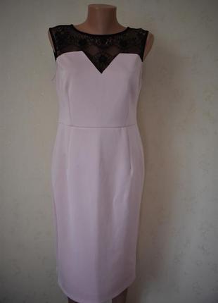 Красивое элегантное платье с кружевом dorothy perkins
