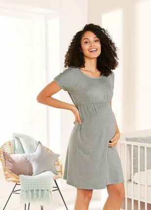 Нежное летнее платье для беременных esmara. размер s, евро 36-38