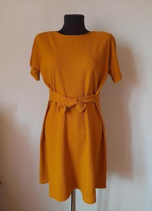 Платье цвета карри