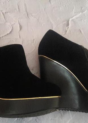 Ботинки из набука на платформе