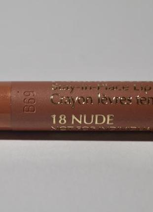 Карандаш для губ double wear stay-in-place тон 18 nude