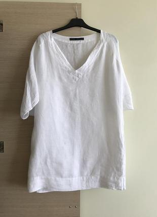 Актуальное платье туника лён zara оверсайз - платок в подарок 🎁