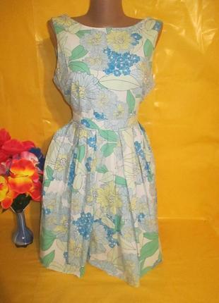 Очень красивое женское платье dorothy perkins  рр 14 грудь 45-48 см 98% катон