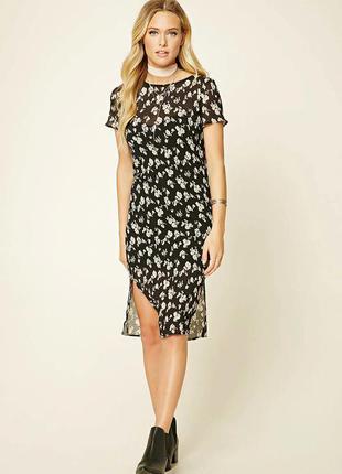 Платье с цветочным принтом forever21
