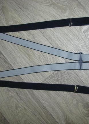 Подтяжки x образные, длина подтяжек в нерастянутом виде максимум 110 см