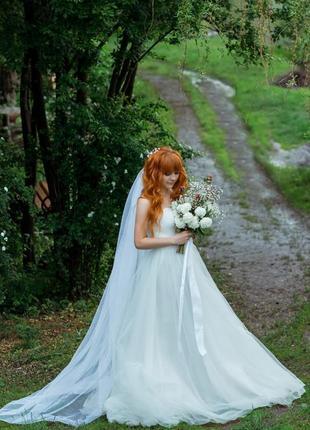 Срочно ❗свадебное платье для нежной утонченной невесты 👰 + туфли и украшение в волосы
